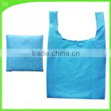 various candy color dot polyester for green shopping bag with foldable                                                                                                         Supplier's Choice