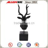 "18""home black resin deer head decoration for home tabletop"