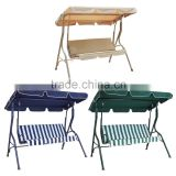 3 Seater Garden Steel Frame Patio Swing Chair With Canopy