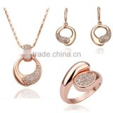 luxury 18k silver plating necklace and earring wedding jewelry , fashion wedding jewellery design