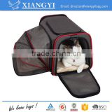 Expandable foldable and washable travel carrier airline approved pet carrier soft mesh sided