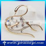 Fashion Jewelry Wholesale alibaba express design shoulder brooch wedding chair brooch sash rhinestone ribbon buckle B0006