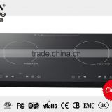 Best quality! touch control 4 digital display double induction cooktop