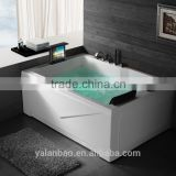 luxury computer control whirlpool massage bathtub with 12inch pop-up TV indoor bathtub BC667