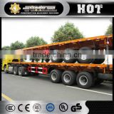 40t flat-bed semi trailer with two-axle & abs braking system and new suspension system