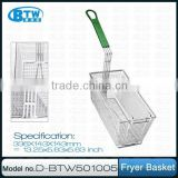 Regular Commercial Grade Iron Wire Fryer Basket with Plastic Coated Handle