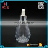 wholesale fancy glass bottles oval glass message dropper bottle 50ml