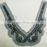Blouse collar design neck design, beads neckline