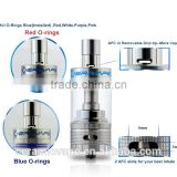 Huge Vapor Sub Ohm E Cig Authentic Ceravape ceramic wick Soter tank with Beautiful Colors Oring Wholesale