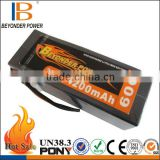 Hard case 22.2V 4200mAh 60C 8045135 rc car battery pack, factory wholesale rechargeable rc lipo battery