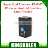 New Release Super Mini ELM327 Bluetooth OBD-II OBD with Power Switch ELM 327 OBD2 Diagnostic interface Fast shipping
