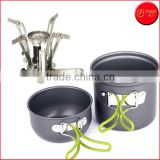 Camping Stove + Camping Pot Backpacking Cookware Set Picnic Cookware Cooking Tool Set