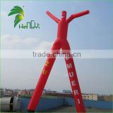 Oxford Cloth Double Legs Inflatable Red Air Fly Guy / Tall Blow Up Inflatable Tube Dancer