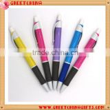 Custom Printed LOGO White Cap Advertising Click Plastic Ball Pen