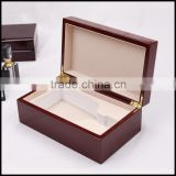 Red wine storage boes painted wooden flip display special packing bo customized wholesale sales
