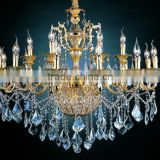 Fancy zinc alloy porcelain chandeliers with crystal