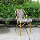 French style outdoor bamboo look aluminum chair