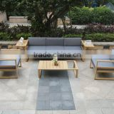 Classic bamboo furniture garden set, outdoor sofa set with side table