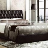 High Tufted Headboard Modern Bed , King Size Leather bed room furntiure MB8016                                                                         Quality Choice