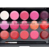 Customize Private Label Lipstick matte liquid lipstick15 color lip gloss palette waterproof lip gloss