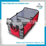 Durable 600D Polyester Materia Auto Boot Foldable Car Trunk Organizer with Padded Bottom