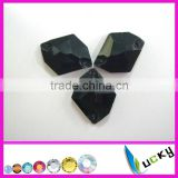 highest quality sew-on crystal beads number 3070# cosmic shape Jet color for garment