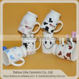 Made in China ceramic mug with spoon for coffee tea milk