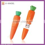 customize vegetable shape usb drive, carrot shape usb flash drive, carrot usb pen drive
