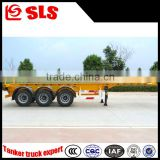 Self loading 40ft tri-axle skeleton trailer/container truck