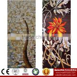 IMARK Tree Pattern Mosaic Mural/Glass Mosaic Pattern Decorative Wall Tile/Handmade Mosaic Tile For Wall Decoration