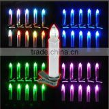 2015 Plastic LED Color Change Rod Candle Flicker White Plastic Christmas Gift Electric Christmas Candles
