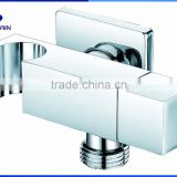Brass angle valve with holder chrome plating for shattaf