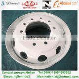 22.5x8.25 white bus tubeless steel wheel