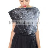 Black lunar surface 3d baroque print hot selling loose dress