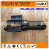 Custom-built , Hard-Wearing Chains for Amphibious Excavator Pontoon Undercarriage, 40Cr Steel Material, MAXWAY Machine Company