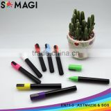 Waterproof 6mm 8 Paint Marker Kit Includes reversible round and chisel tip Chalk Marker Colors