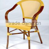 Commercial for Restaurant Restaurant bamboo look out door chair PE Rattan chair LHA003D A+T bamboolook