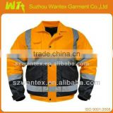 ANSI Class 3 Two-Tone Work Bomber Reflective Safety Jacket
