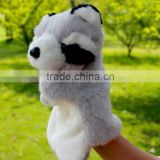 Promotional Animal Racoon Plush Toy Plush Hand Puppet