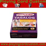 Custom printed children educational flash cards with pro service