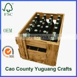 fairy style 24 bottles wooden beer crates
