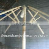 bamboo umbrella with thatch roof