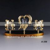 24K gold plated Crystal love bear for wedding gifts