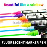 Multi-color fluorescent highlighter durable marker pen / double-end fluorescent magic marker pen