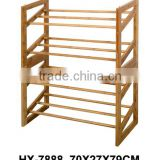 Bamboo 4 Tier Shoe Rack, Shoe Shelf for Home-Using