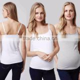 Maternity Tops Blouses Wholesale Sleeve Tank Top for Pregnant Women Loose Fitness Blouses Wholesale Maternity Clothes Custom