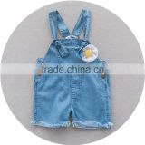Wholesale newborn baby girl denim jeans burrs overalls shorts