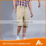 OEM custom new fashion wholesale cotton plain 6 pocket cargo shorts for men