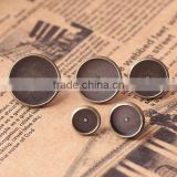 8-16mm Antique Bronze Tone Round Cabochon Bezels Tray Settings Earrings Blank Base