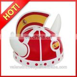Hot selling Football fan Items plastic hat football fans hat match hat